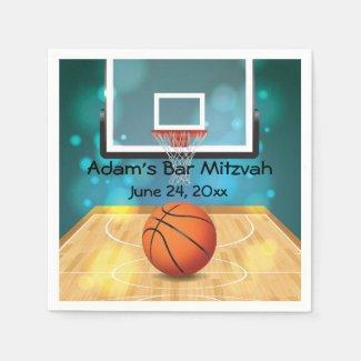 Basketball Design Paper Napkins