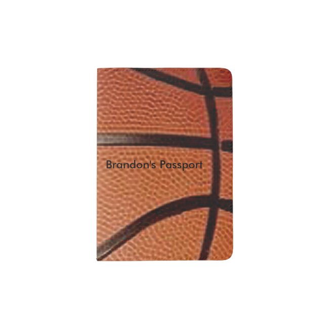 Basketball Design Passport Cover
