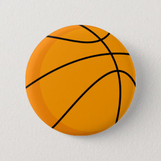 Basketball design pinback button