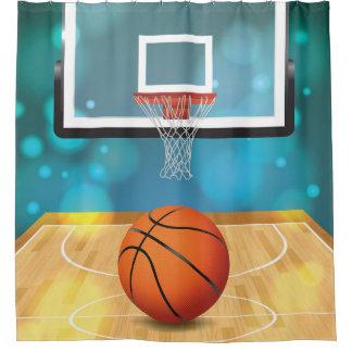Basketball Design Shower Curtain