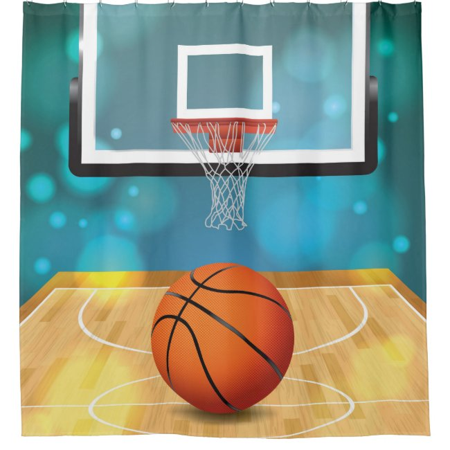 Basketball Design Shower Curtain