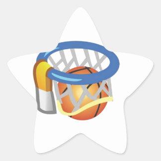 Basketball design star sticker