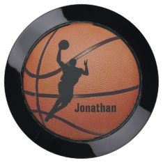 Basketball Design USB Charging Station at Zazzle