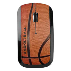 Basketball Design Wireless Mouse at Zazzle
