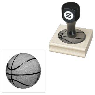 Basketball Design Wooden Stamp