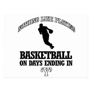 basketball designs postcard