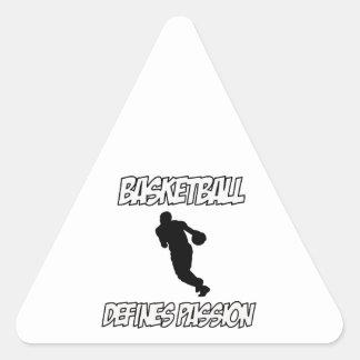 basketball designs triangle sticker
