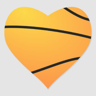 Basketball Destiny Sports Leisure Heart Sticker