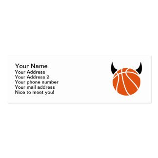 Basketball devil Double-Sided mini business cards (Pack of 20)