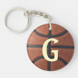 Basketball Double-Sided Round Acrylic Keychain