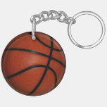 Basketball Double-sided Round Key chain