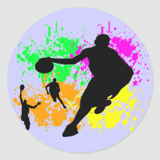 Basketball Dreams Classic Round Sticker