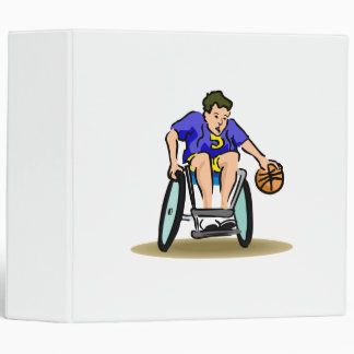 Basketball Dribble Vinyl Binders