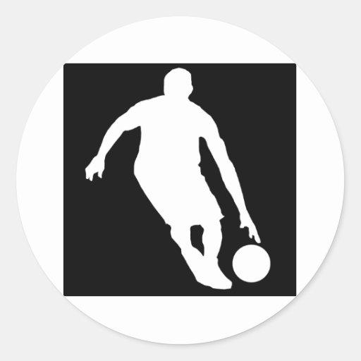 Basketball Dribble Classic Round Sticker
