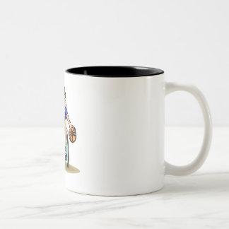 Basketball Dribble Two-Tone Coffee Mug