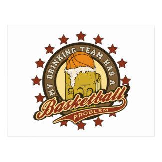 Basketball Drinking Team Post Card