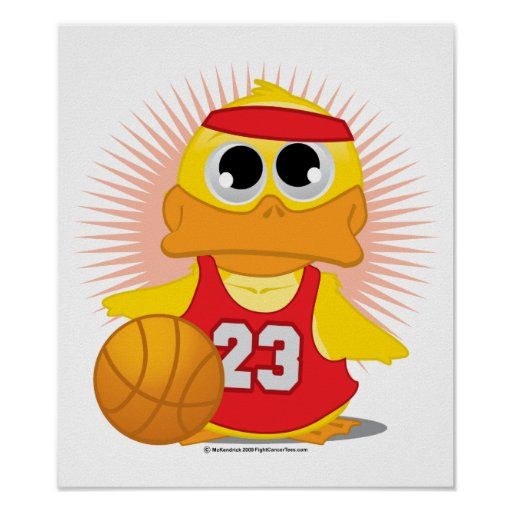 Basketball Duck Posters