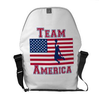 Basketball Dunk American Flag Team America Messenger Bag