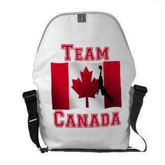 Basketball Dunk Canadian Flag Team Canada Courier Bags