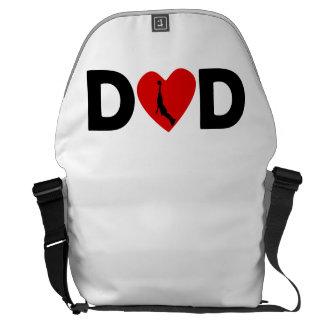 Basketball Dunk Heart Dad Courier Bag