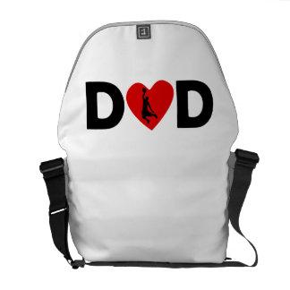 Basketball Dunk Heart Dad Messenger Bag