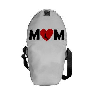 Basketball Dunk Heart Mom Messenger Bags