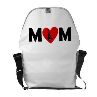 Basketball Dunk Heart Mom Messenger Bag