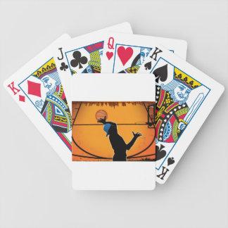 Basketball Dunk Silhouette Baraja De Cartas
