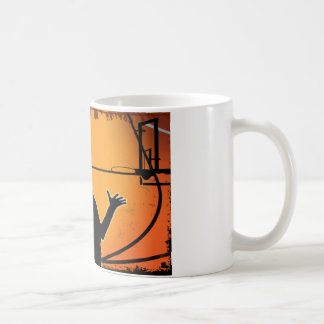 Basketball Dunk Silhouette Coffee Mug
