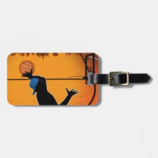 Basketball Dunk Silhouette Etiquetas Bolsas