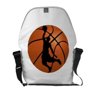 Basketball Dunk Silhouette Courier Bags
