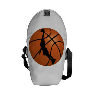 Basketball Dunk Silhouette Courier Bag
