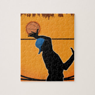 Basketball Dunk Silhouette Puzzle