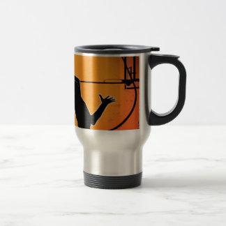 Basketball Dunk Silhouette Travel Mug