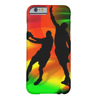 Basketball Duo Bright Court Lights Barely There iPhone 6 Case