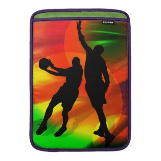 Basketball Duo Bright Court Lights MacBook Air Sleeve