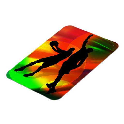 Basketball Duo Bright Court Lights Magnet