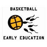 basketball early education post cards