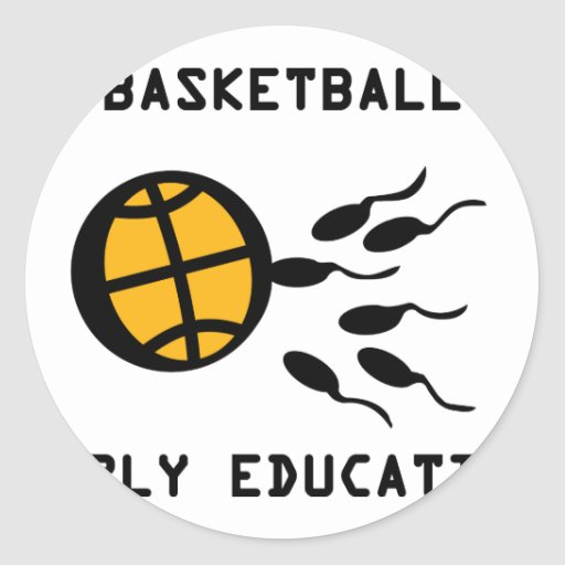 basketball early education stickers