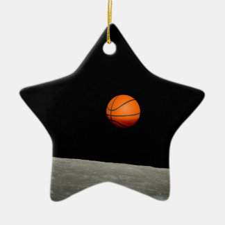 basketball earth from moon space universe ceramic ornament