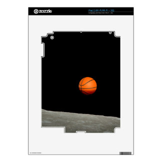 basketball earth from moon space universe decal for the iPad 2