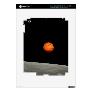 basketball earth from moon space universe iPad 3 skin