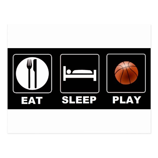 Basketball Eat Sleep Play Postcard | Zazzle