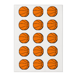 Basketball Edible Frosting Rounds