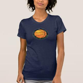 Basketball Emblem Blue Green T-Shirt