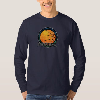 Basketball Emblem Blue Green T-Shirt