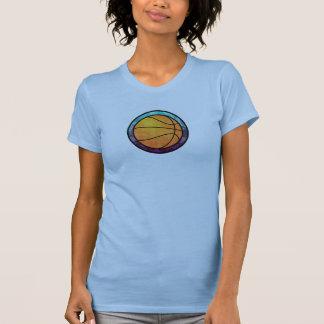 Basketball Emblem Blue Purple T-Shirt