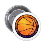 Basketball Emblem Orange Purple Mug Button