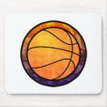 Basketball Emblem Orange Purple Mug Mouse Pad