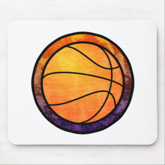 Basketball Emblem Orange Purple Mug Mouse Pad